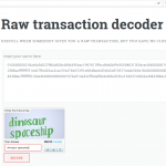 online decoding of a raw, unsigned transaction